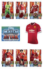 Match Attax 2015/16 Trading Cards. Individual Base Cards Man United 164-180