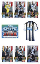 Match Attax 2015/16 Trading Cards. Individual Base Newcastle United 182-198