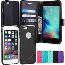 Apple iPhone 6S / 6 Housse Silicone Coque Etui de luxe Portefeuille