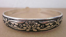 Two Styles Tibetan Silver ZigZag or Flower Bracelet/Bangle/Cuff/Bohmian/Gothic