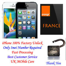 iPhone 3gs 4 4S 5 5S 5C ORANGE France UNLOCKING for NOT FOUND CLEAN IMEI