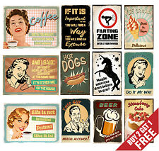 RETRO VINTAGE QUOTE POSTER SIGNS A3 A4 Funny Prints Pub Restaurant Home Wall  Art