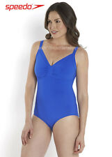 Speedo Women's Sculpture Watergem Adjustable Swimsuit Beautiful Blue New 12-20