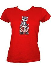 Stay Metal Ladies Red T-Shirt