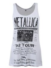Metallica 92 Poster Women's White Vest