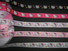 Hello Kitty Cinta Grosgrain 1 Metros Costura/Manualidades/Mercería/Scrapbooking