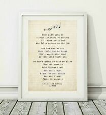 015 MUSE - Knights of Cydonia - Song Lyric Art Poster Print - Sizes A4 A3