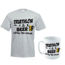 TRIATHLON & BEER - Swim / Bike / Run / Funny / Gift Idea Men's T-Shirt & Mug Set