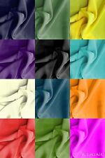"Plain Crepe Fabric - Crepe De Chine - 45"" / 115cm Wide - 12 Colours - FREE P&P"