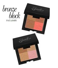 SLEEK Bronceador e Iluminador, BRONZE BLOCK 4Shades Makeup Bronzer + Highlighter