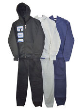 """Boys/kids """"COOL"""" Tracksuit 2 Piece Set Top Hooded Jogging Bottoms 3-14 Yrs"""