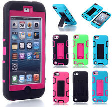 Defender Silicone Plastic Hard Case with Stand for Apple iPod Touch 5th 6th Gen