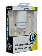Nextech 1A MINI Travel/Wall Charger with Micro USB Cable for Smartphones-SAMSUNG