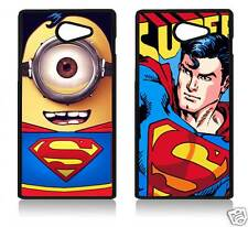SUPERMAN LOGO SONY XPERIA C3 C4 Z5 M5 T2 Z5 MINI COVER CASE CARCASA MINION