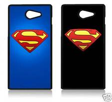 SUPERMAN LOGO SONY XPERIA C3 C4 Z5 M5 T2 Z5 MINI COVER CASE CARCASA FUNDA COMIC