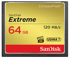 Sandisk 64GB Extreme Compact Flash Memory Card 120 Mb/s-Original 5 Year Warranty