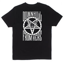 HUF X THRASHER DOWN FROM HERE TEE SHIRT BLACK