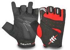 HALF FINGER SPORTS CYCLING GLOVES BICYCLE AMARA PADDED PALM FINGERLESS GYM
