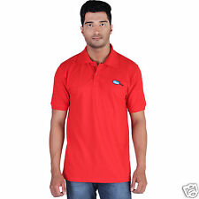 Fleximaa Men's Collar (Polo) T-Shirt Red Color with Embroidery