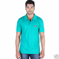 Fleximaa Men's Collar (Polo) T-Shirt Reliance Green Color with Embroidery