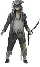 Uomo Spettrale Ghoul Pirata Zombie Costume Halloween Outfit M L XL