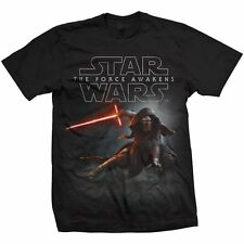 Star Wars Ep VII The Force Awakens Official Printed T-shirt - Kylo Ren Crouch