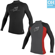O'Neill Mens Skins Turtleneck Rash Vest Long Sleeve Guard Surf UV50 Quick Dry