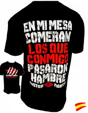 CAMISETA de CUSTOM FIGHTER En mi mesa comerán Muay Thai Kick Boxing Boxeo