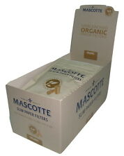 Mascotte Unbleached Organic Slim Paper Filter Tips- 6mm Diameter - X-long 19mm