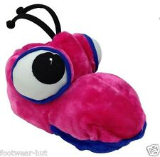 WOMENS GIRLS NOVELTY PINK BUG SLIPPERS IDEAL XMAS GIFT ALL SIZES 3 4 5 6 7 8 NEW