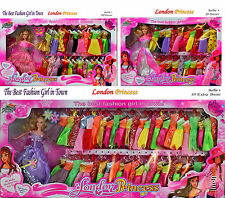 Princess Girl Beautiful Barbie style Doll Play Set Roll Play Dress Doll Gift FM