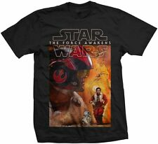 Star Wars Ep VII The Force Awakens Official Printed T-shirt - Dameron Comp