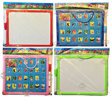 KIDS 2-in-1 WHITEBOARD DRY WIPE WITH ALPHABET FUN CHILDREN WHITEBOARD WITH PEN