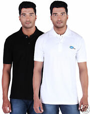 Fleximaa Men's Collar (Polo) T-Shirt Black & White Color (Pack of 2)