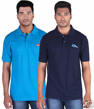 Fleximaa Men's Collar (Polo) T-Shirt Blue & NavyBlue Color (Pack of 2)