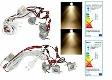 Led Lichtpunkte 3er Komplett Set Warmweiss 1Watt = 10Watt mit Trafo