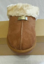Ladies Fur Slippers Suede GGG Mule Slip on Ankle Shoes Sizes UK3-8 Camel