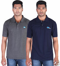 Fleximaa Men's Collar (Polo) T-Shirt Charcoal & NavyBlue Color (Pack of 2)