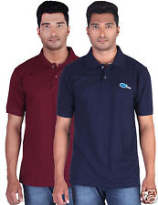 Fleximaa Men's Collar (Polo) T-Shirt Maroon & NavyBlue Color (Pack of 2)