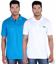 Fleximaa Men's Collar (Polo) T-Shirt Blue & White Color (Pack of 2)