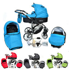 Baby Pram Stroller Buggy Travel System Pushchair Allivio car seat  22 colours