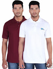 Fleximaa Men's Collar (Polo) T-Shirt Maroon & White Color (Pack of 2)