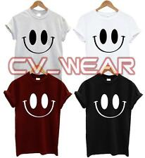 SMILEY FACE T SHIRT RETRO SWAG DOPE TEE TUMBLR BLOG HIPSTER FASHION FUNNY GIFT