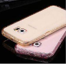 Luxury Ultra Thin Crystal Diamond Bling Gel Case Cover for iPhone 5 6 & Samsung