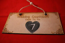 Personalised Wedding Countdown   Chalkboard Plaque Sign  Engagement Mr & Mrs MDF