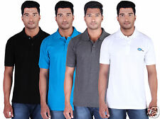 Fleximaa Men's Collar (Polo) T-Shirt Black, Blue, Charcoal & White (Pack of 4)