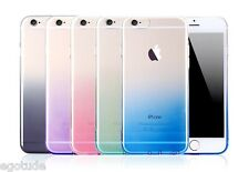 Gradient Colour Transparent TPU Soft Silicone Cover Case for Apple iPhone 5S 6S