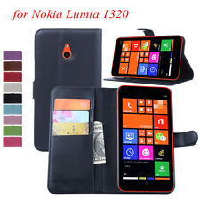Luxury Magnetic Flip Cover Wallet  PU  Leather Case Cover For Nokia Lumia 1320