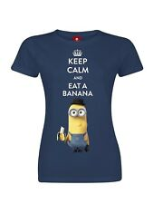 Minions Keep Calm Girl Shirt dunkelblau