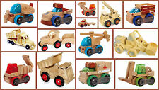 Childrens transformobiles tractor vehicles forklift dump truck wooden Boys Gift